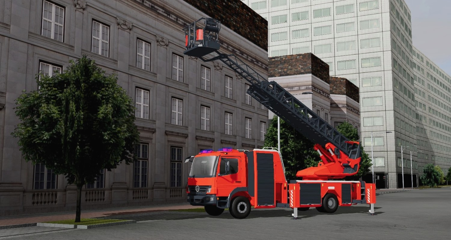 A fully functional Aerial Ladder Truck for training aerial ladder operations in a safe and repeatable environment.