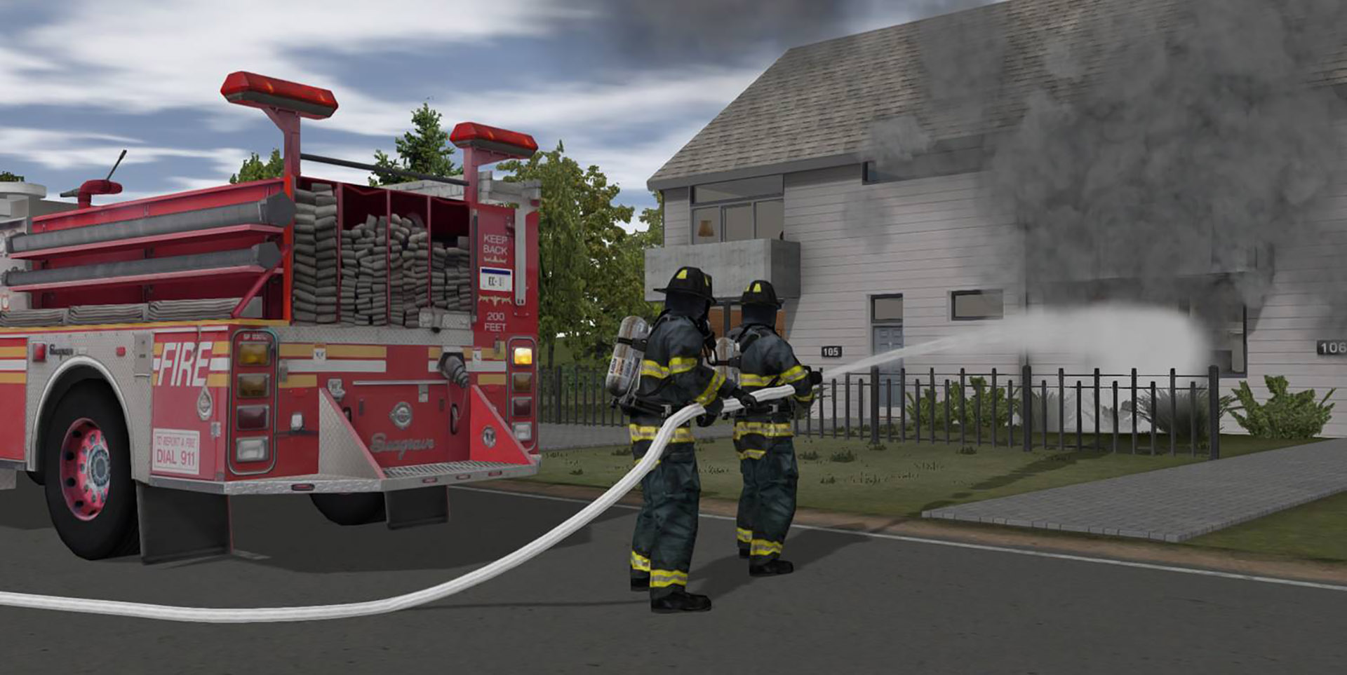 Fire Training with ADMS - House Fire